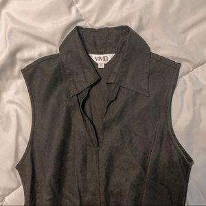 100% Linen Collared Dress
